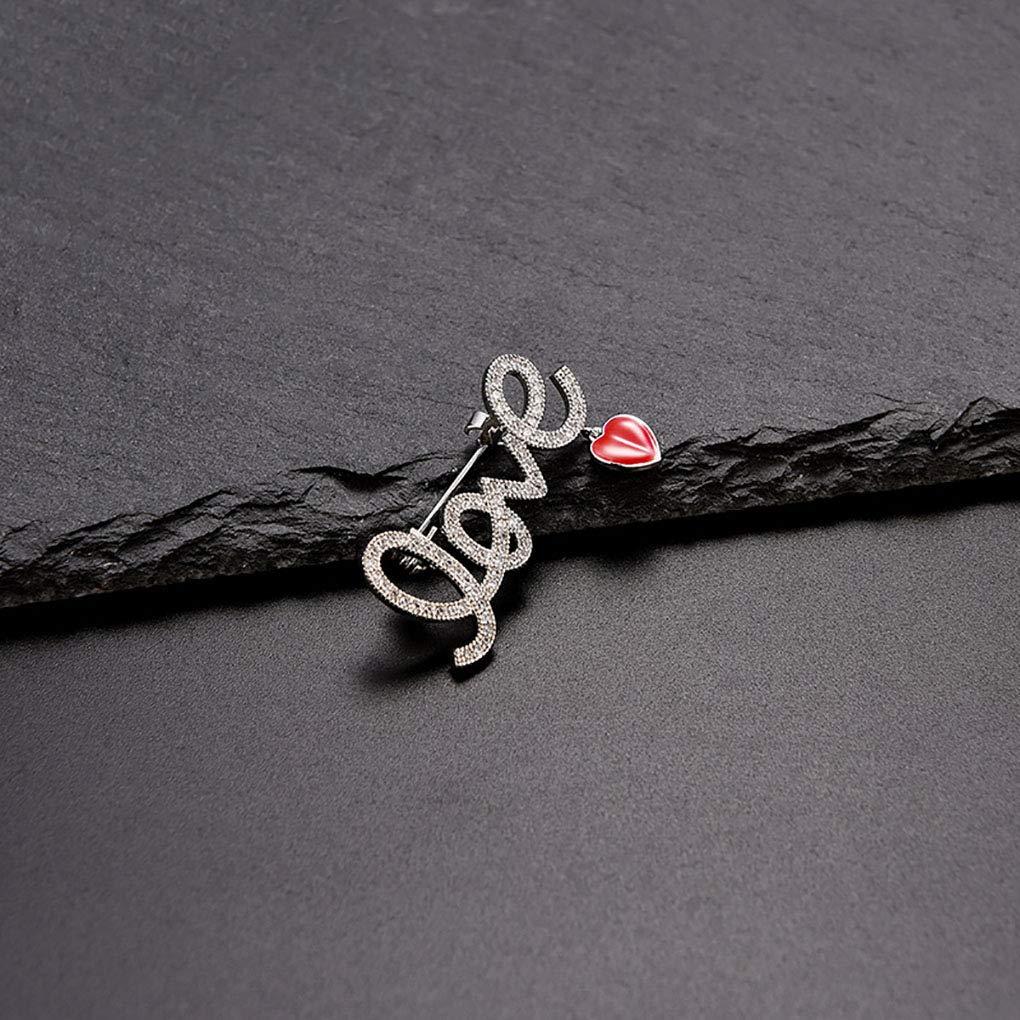 Beaums Les femmes aiment /él/égante Styling strass Broche Pins Brillante alliage Breastpins V/êtements de d/écoration int/érieure Cadeau