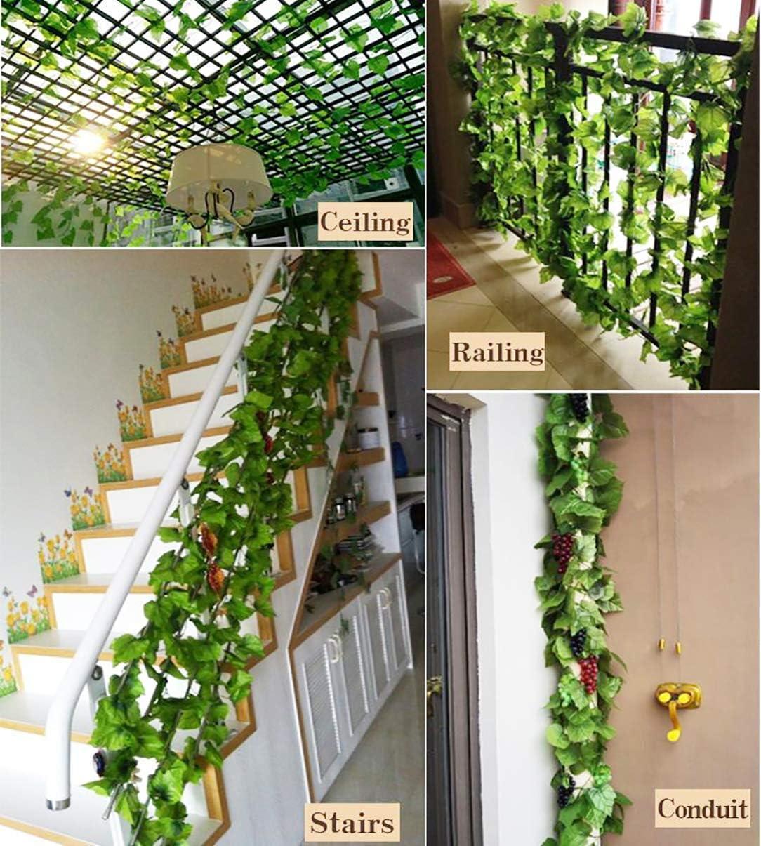 HMILYDYK Guirnalda de simulación de Plantas para decoración de ...