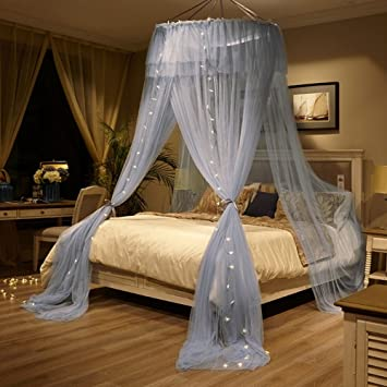 Traum Prinzessin Bett Baldachin Bett Vordächer, Elegante Schattierung  Hängenden Moskitonetz A Queen2