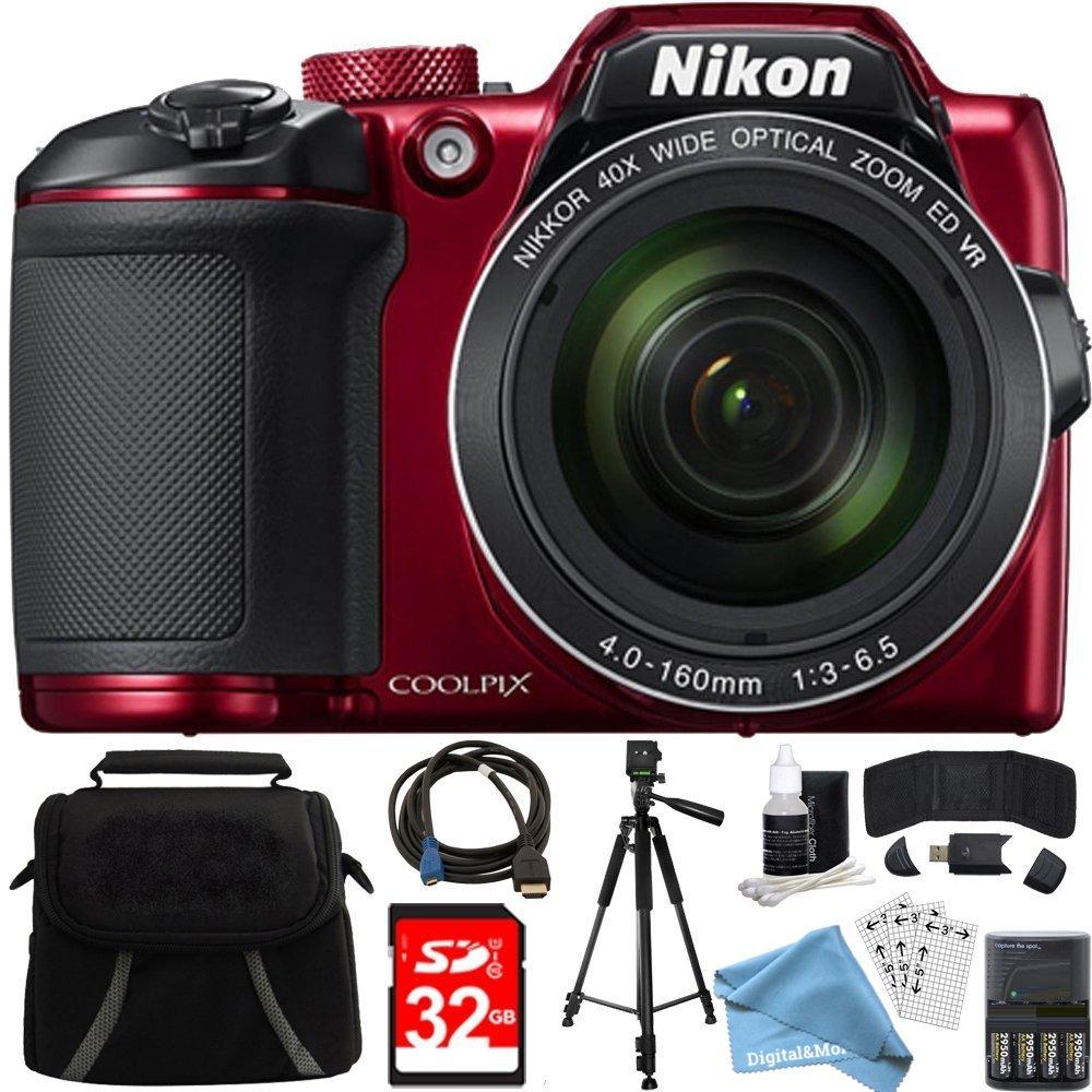 Nikon Coolpix b500 16 MP 40 x光学ズームデジタルカメラ32 GBバンドルIncludesカメラ、バッグ、32 GBメモリカード、リーダー、財布、AA電池+充電器、HDMIケーブル、三脚、digitalandmore Cloth and More   B077RZNV13
