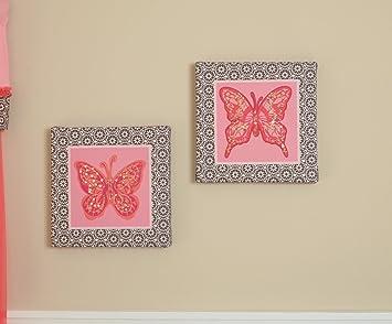 Summer Infant Juliette Butterfly Canvas Wall Art