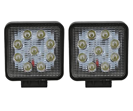 fc8ef7a9be1 GrowAbout 9 LED Bike Square Aux Fog Lights White (Set of 2) - Kinetic Boss  115: Amazon.in: Car & Motorbike