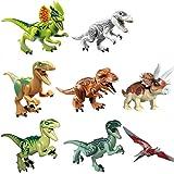 NUOLUX Dinosaure Building Blocks Jurassic World dinosaure Miniature figurines 8Pcs