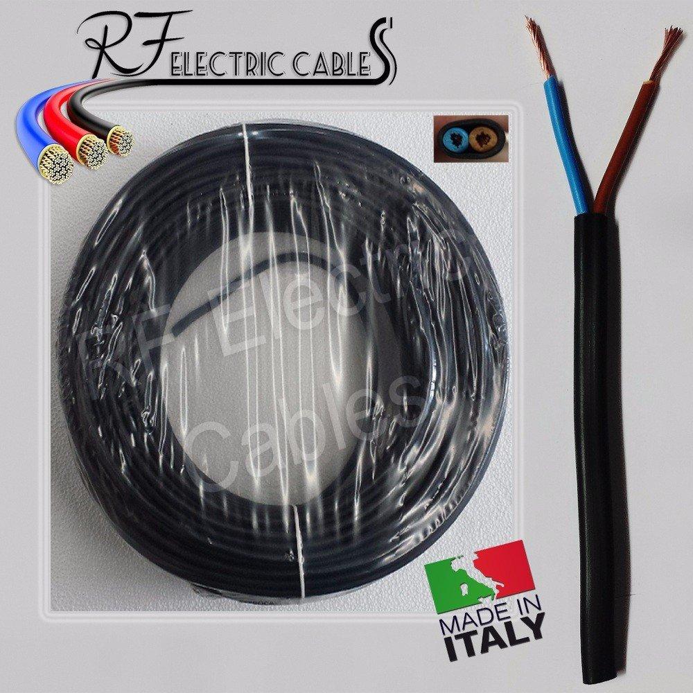 CABLE ELÉCTRICO PLANO DRENAJE ELECTRODOMÉSTICO, 2 X 0,75 MM² ENCHUFE 2 POLOS NEGRO 100 M: Amazon.es: Bricolaje y herramientas