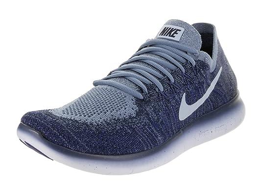 Nike Men's Free RN Flyknit 2017 Running Shoe OCEAN FOG/CIRRUS BLUE-COLLEGE  NAVY