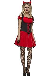 Wilbers 4257 Damenkostum Sexy Teufel Pailetten Schwarz Rot Kostum