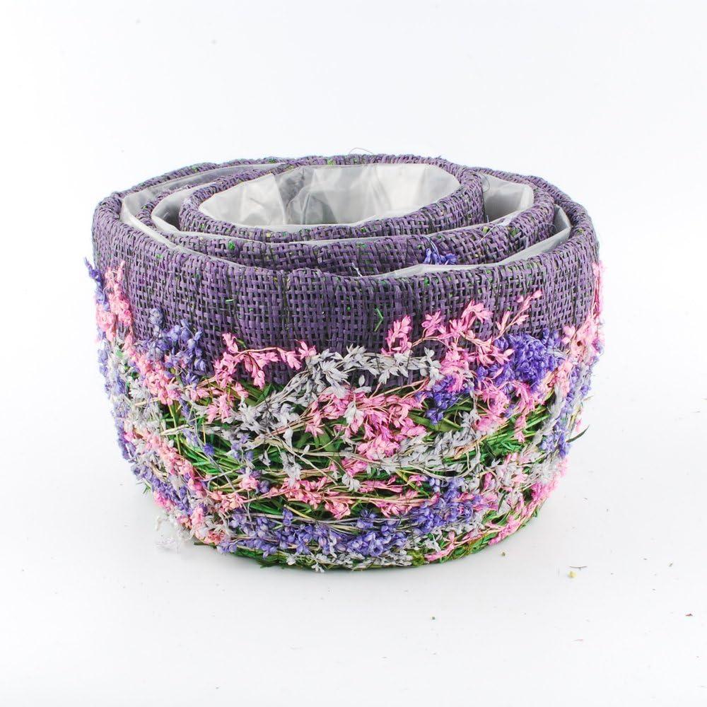 Purple Circle Set NWFashion Flower Moss Vine Weave Hnamade Craft Floral Moss Planter