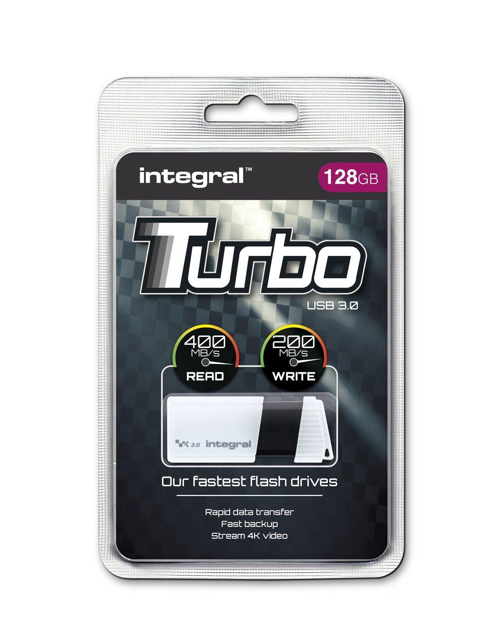Memoria USB Integral Memory Turbo, color blanco blanco blanco 128 GB: Amazon.es: Informática