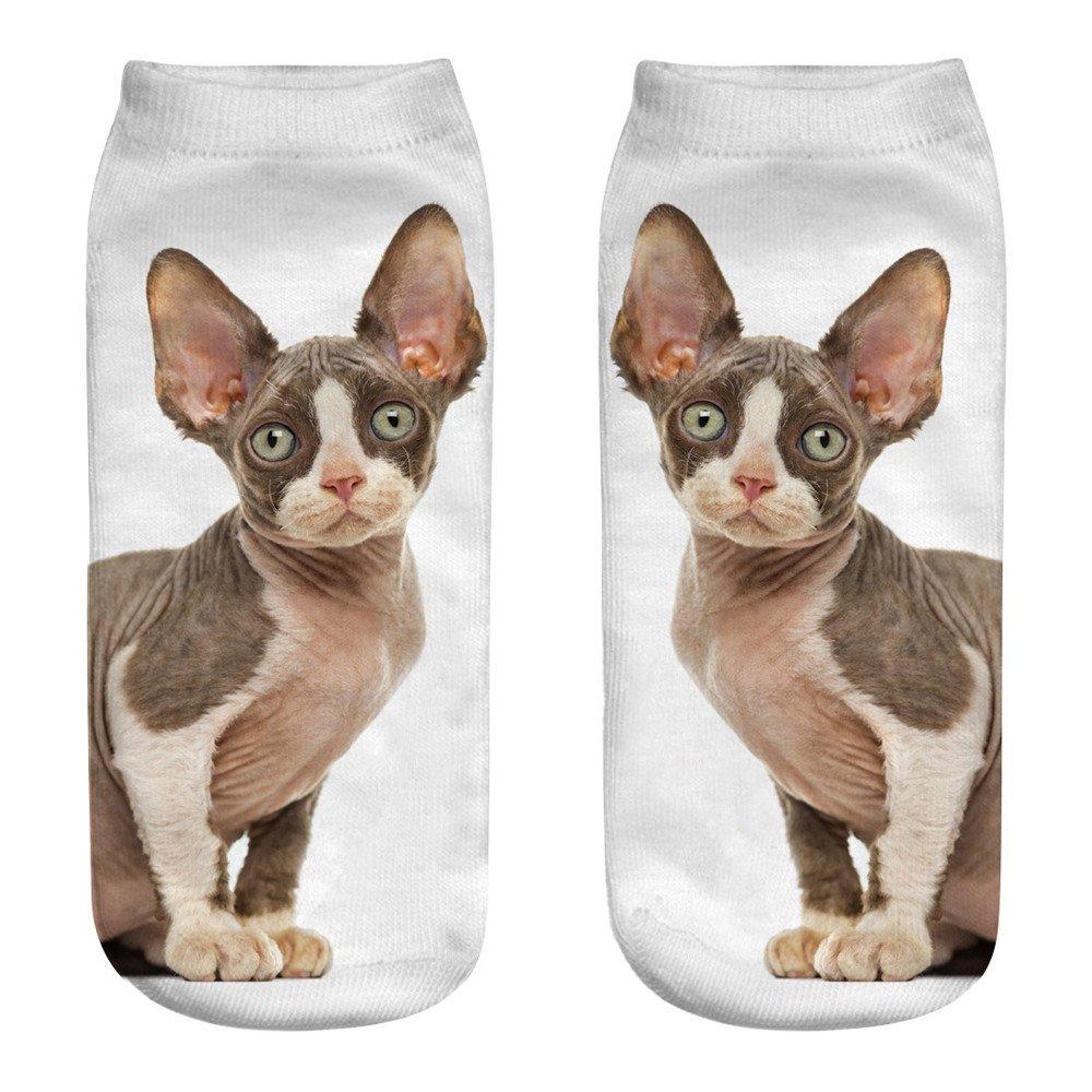 3D Printing Cute Socks, Casual Cartoon Cotton Socks Fashion Sports Socks Alixyz