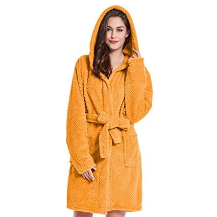 Bathrobe XS Short Women Men Unisex Hooded Dressing Gown Microfibre Soft  Snug Cosy Fleece Orange Sleepyhead  Amazon.co.uk  Kitchen   Home a61c88f363
