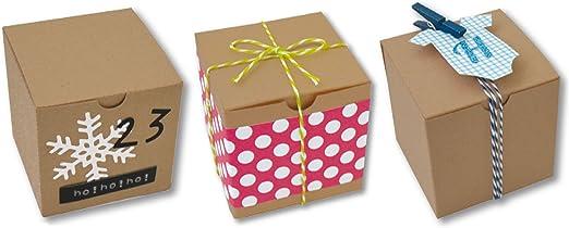 Toga emb020 Pack de 6 Cajas Cubo Papel Kraft 5,5 x 5,5 x 5,5 cm