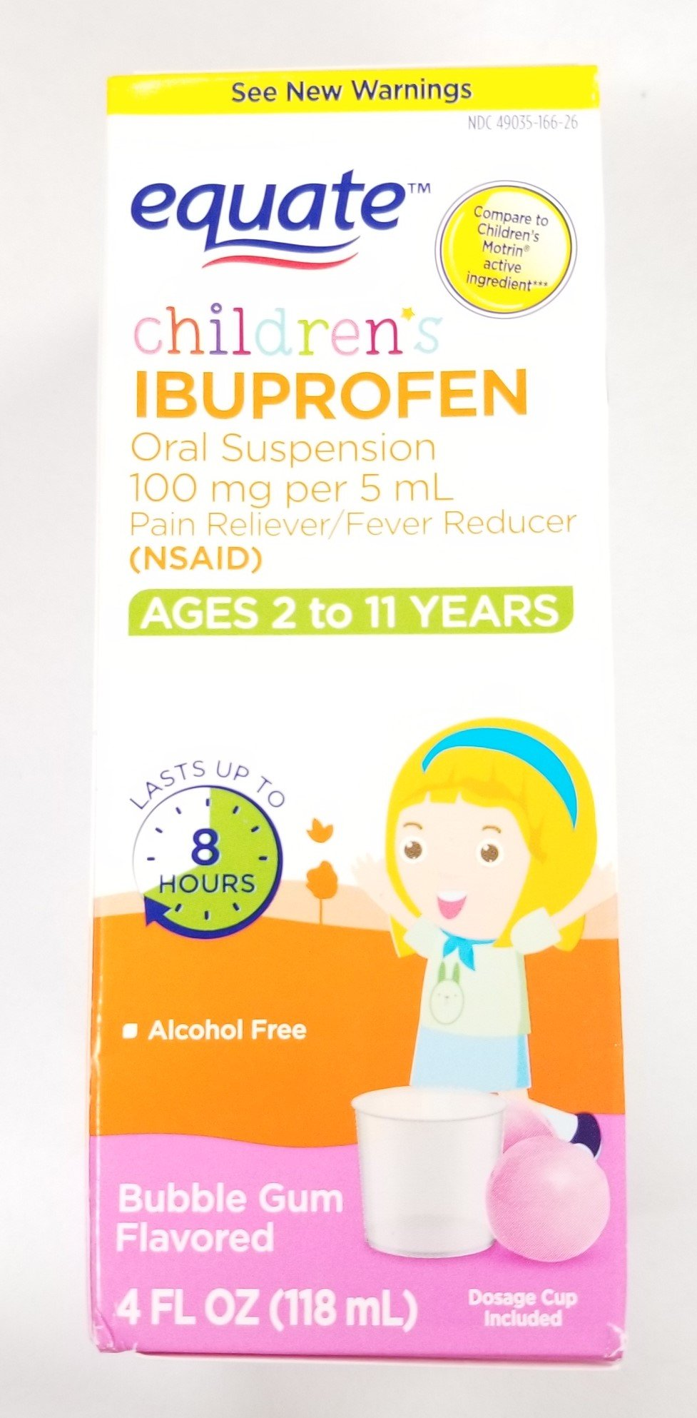 Childrens Ibuprofen Bubble Gum 4 oz