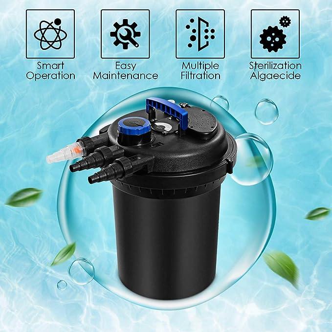 Goplus Bio presión del Filtro 4000Gal con 13W Luz UV: Amazon.es: Hogar