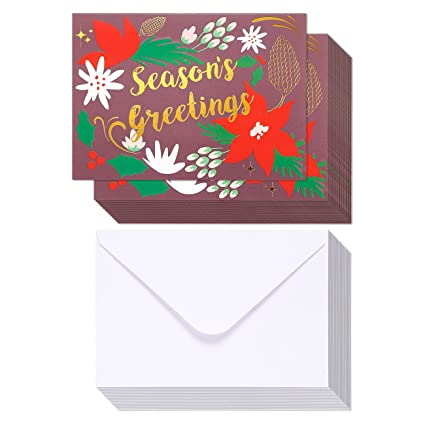 48 pack merry christmas greeting cards bulk box set winter holiday xmas greeting cards - Fancy Christmas Cards