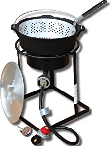 King Kooker 1650 16-Inch Outdoor Propane Burner with Cast Iron Dutch Oven
