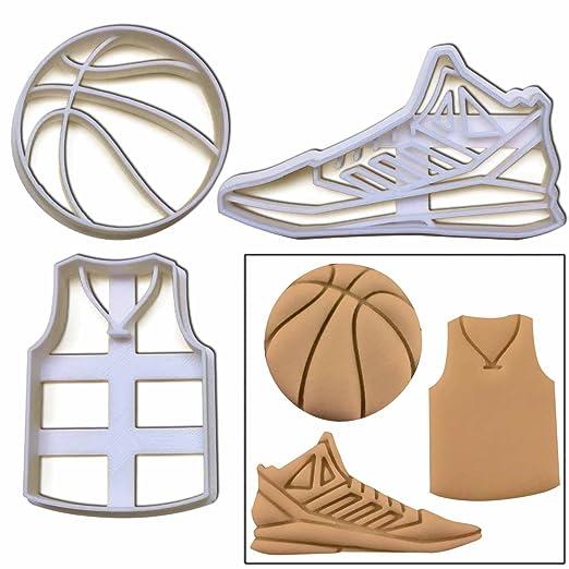 Set de 3 cortadores de galletas, (diseño de baloncesto bola ...