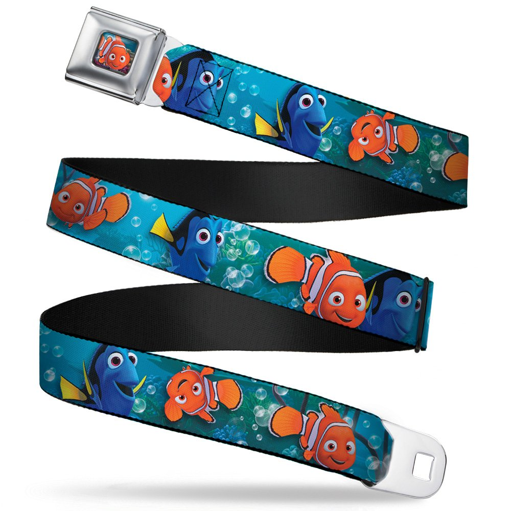 Buckle-Down Seatbelt Belt - Nemo & Dory Poses - 1.5 Wide - 32-52 Inches in Length DYHD-WDY265-XL