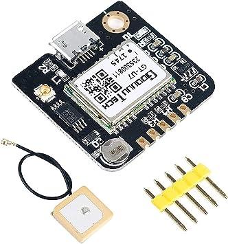 MakerHawk Módulo GPS Drone Microcontrolador Compatible para NEO-6M 51 Microcontrolador STM32 UNO R3 con Antena IPEX Alta sensibilidad para navegación ...