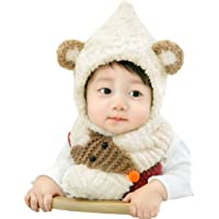 Baby Fleece Winter Earlap Hat and Scarf Set with Cotton Lined
