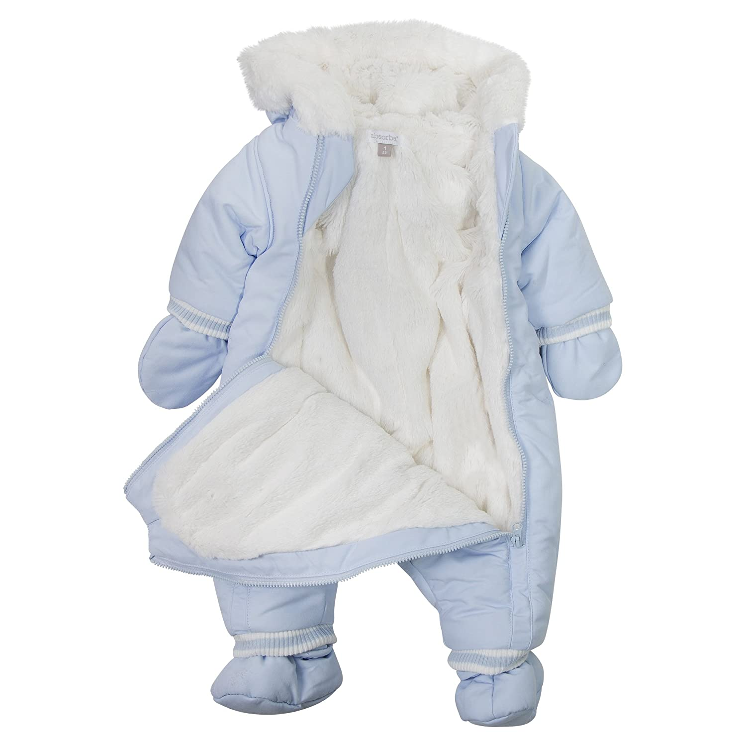 65b2be5cf Absorba Baby Boys  Coverall Snowsuit  Amazon.co.uk  Clothing