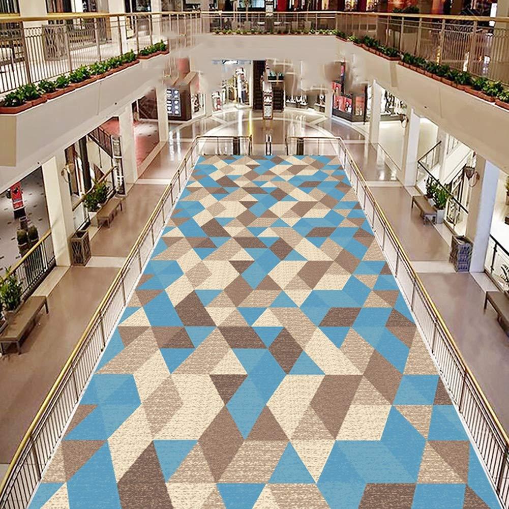 YANZHEN-tapis Couloir Passage Coupable Motifs G/éom/étriques Support Antid/érapant Tissu Non Tiss/é Lavable Tissu M/élang/é Couleur : Multicolore, Taille : 0.8 x 1m