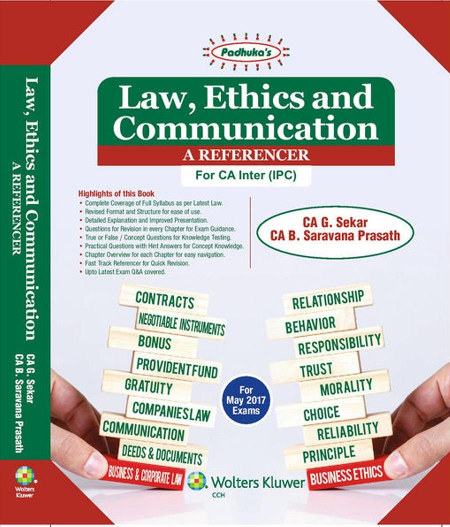 Buy Law Ethics Communication Referencer CA IPC Book Online