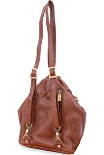 05f63f2feca5 Visconti Women s Back Pack Handbag - Genuine Leather- Adjustable Straps Top  Handle Stylish