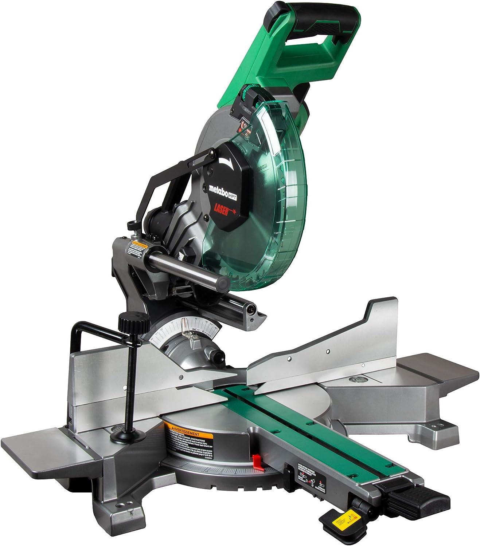 Metabo Hpt 10 Inch Sliding Miter Saw Zero Rear Clearance Slide System Dual Bevel Laser Marker C10fshct Amazon Com