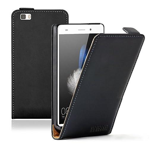 76 opinioni per Membrane- Ultra Slim Nero Custodia per Huawei P8 Lite- Flip Case Cover