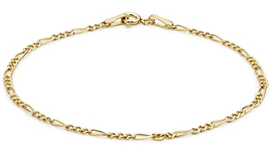 Carissima Gold Women's 9 ct Yellow Gold Hollow Figaro Anklet