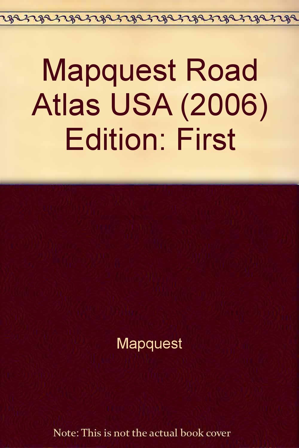 Mapquest Road Atlas Large Print Large Scale MAPQUEST - Mapquest map of usa