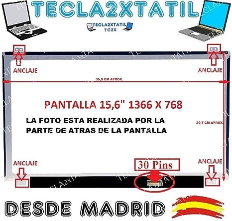 """TECLA2XTATIL TC2X Pantalla Compatible para PORTATIL HP 15-Ay026nf 15,6"""" HD 1366"""