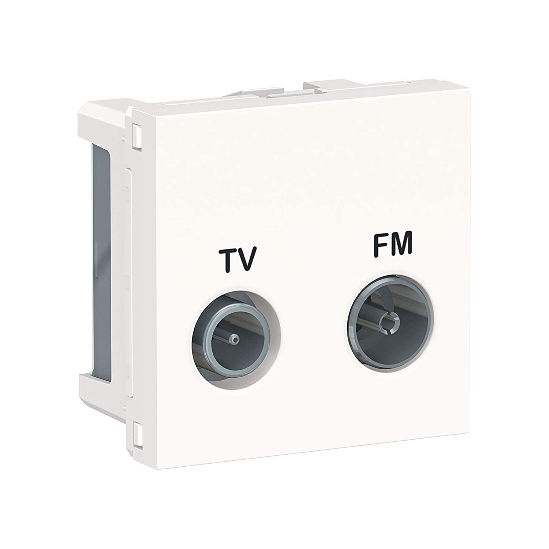 Schneider Electric NU345118 New Unica, Toma Doble TV-FM ...