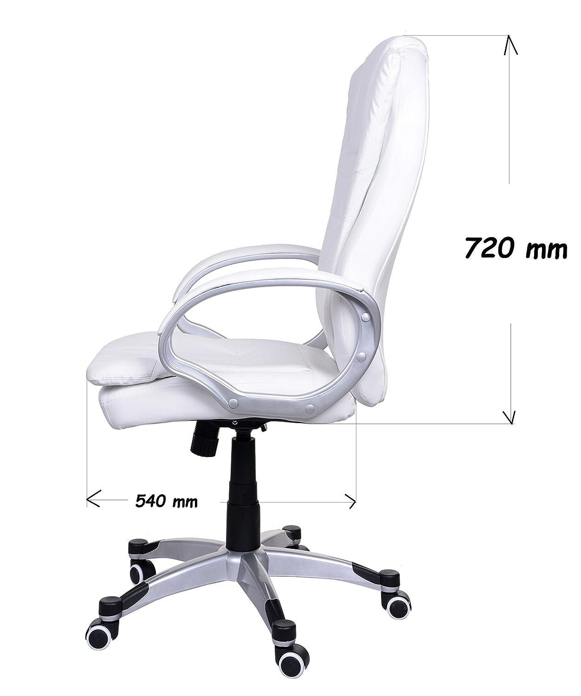 Silla cómoda del ordenador de oficina de Giosedio BSU, cuero, silla de oficina elegante de la mirada. Brazos suaves y forma ergonómica del respaldo.