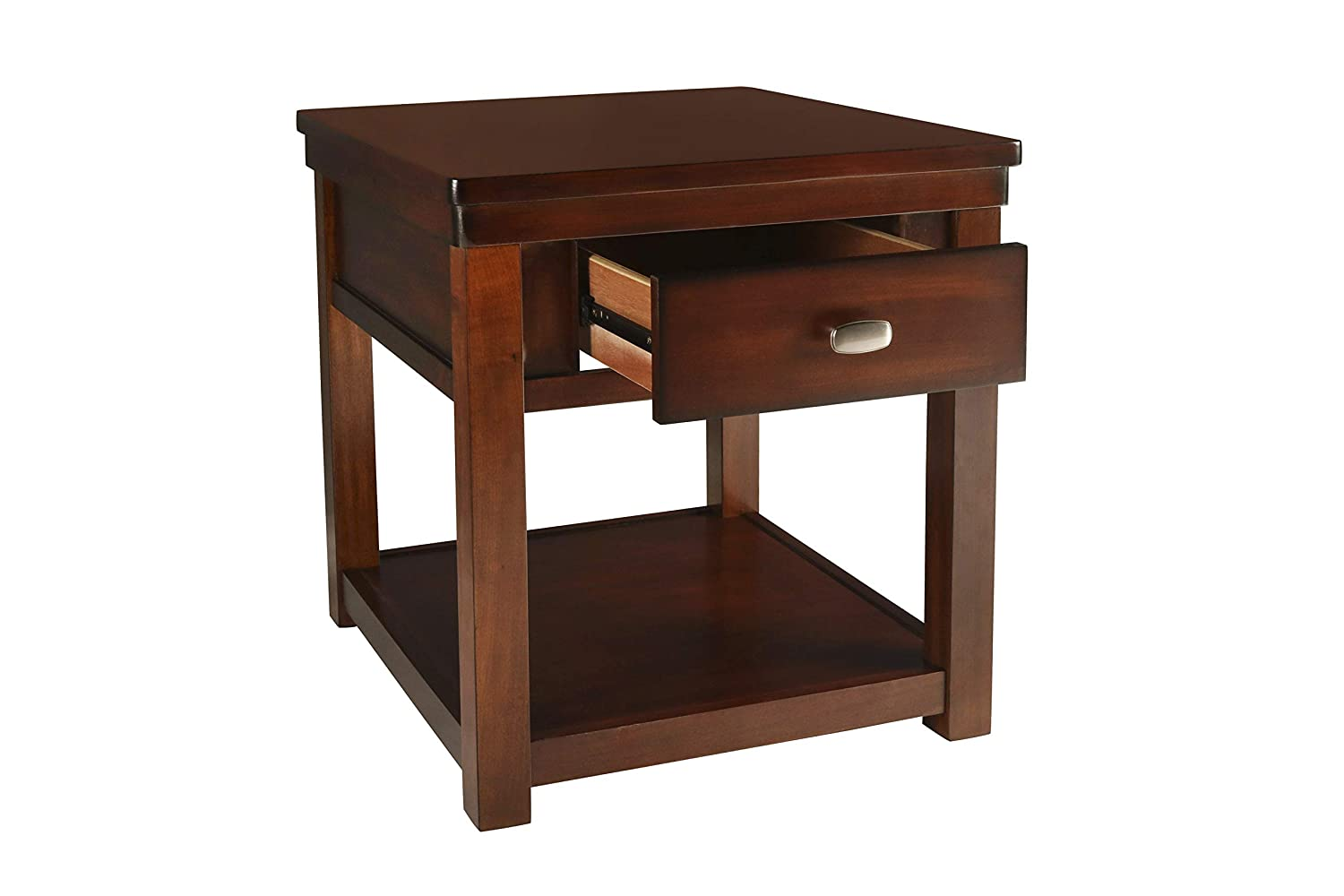 New Classic Houston Burnished Cherry End Table