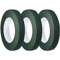 LEBQ 3 Pack Bloemist Stam Tape 1/2 Inch x 90 Voet (Donkergroen)