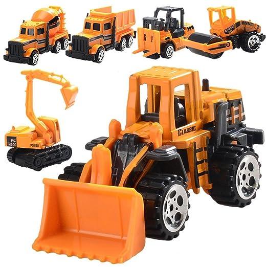 6pcs aleación de ingeniería coche juguete Set, mamum Funny ingeniería vehículo modelo de la rueda