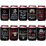 Avery Barn Paquete De 10 Citas Divertidas Neopreno Con Aislamiento Lata Cerveza Koozie Camisa Fundas