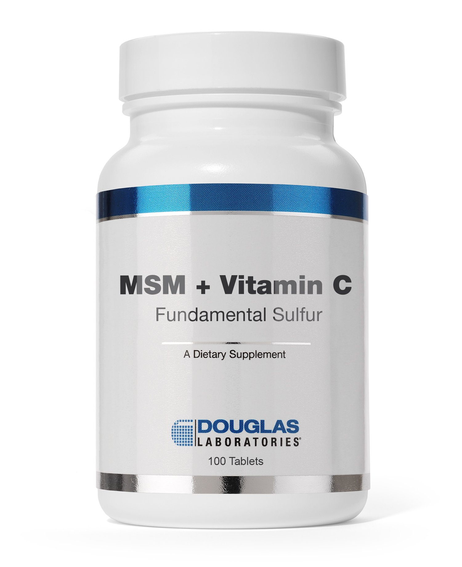 Douglas Laboratories - MSM + Vitamin C (Fundamental Sulfur) - Supports Wound Healing and Capillary Health - 100 Tablets
