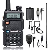 BaoFeng UV-5R Dual Band Two Way Radio with one more TID Battery Car Charge one Hand Mic. and NA-771 ham radio