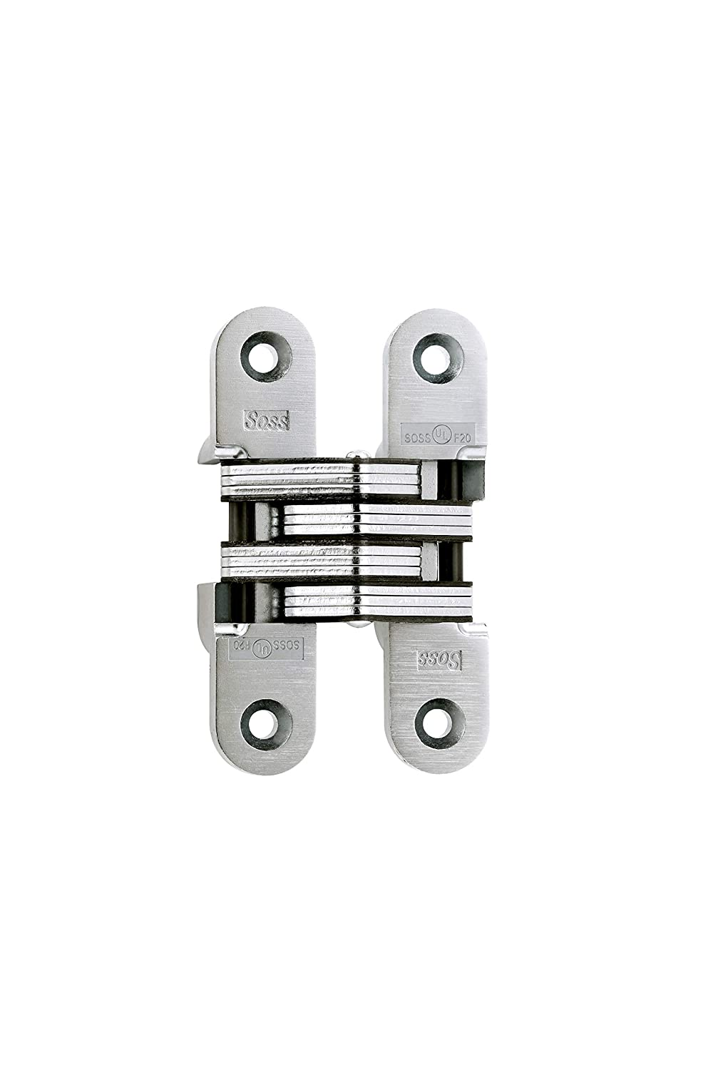 """Chrome Plated Hinges 3/"""" x 1 3//8/"""" Mount 1/"""" Opening 1 Pr"""