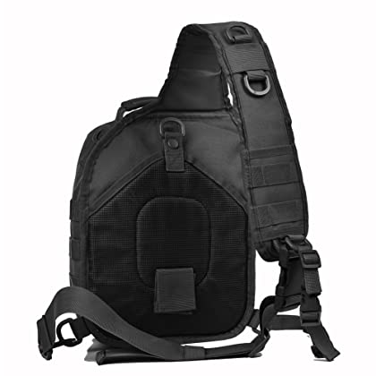 29f7534aa14 ... REEBOW GEAR Tactical Sling Bag Pack Military Rover Shoulder Sling  Backpack Molle Assault Range Bag Everyday ...