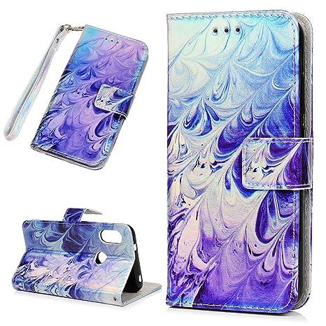 Funda Carcasas Xiaomi Mi A2 Lite, Delgada Piel Libro Suave Flip Cover PU Leather Protector