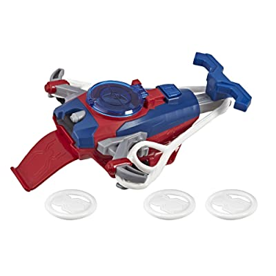 Spider-Man Web Shots Disc Slinger Blaster Toy for Kids Ages 5 & Up: Toys & Games