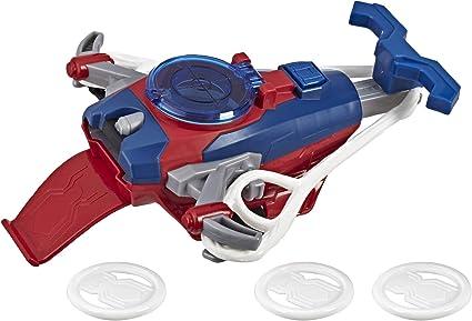 Spider-Man Web Shots Disc Slinger Blaster Toy for Kids Ages 5 /& Up