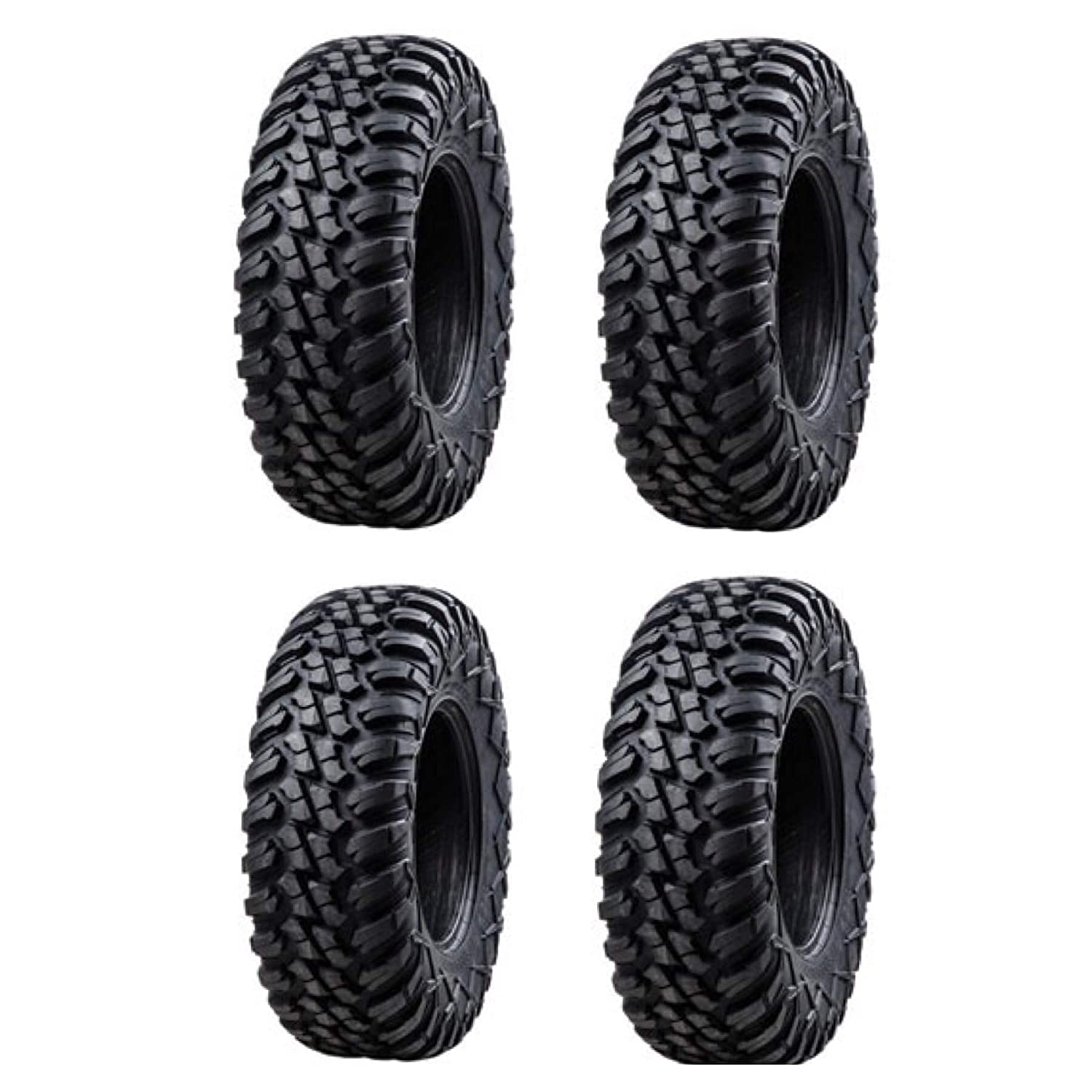 Bundle Four Tusk TERRABITE Heavy Duty 8-Ply DOT Radial UTV//ATV Tires Two 26x9-14 and Two 26x11-14