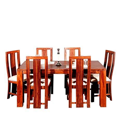 48d0b633d8 Evok Della Solidwood Six Seater Dining Set in Brown Colour: Amazon.in: Home  & Kitchen