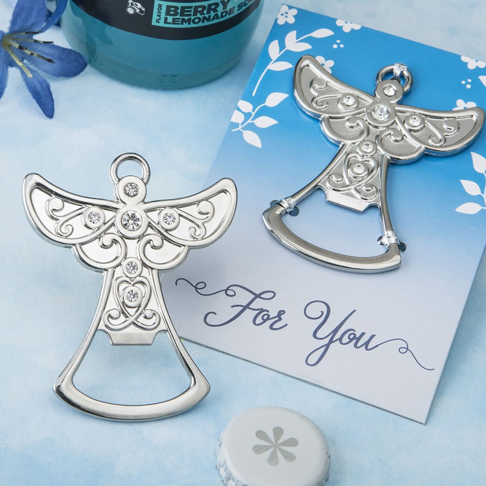113 Guardian Angel Design Silver Metal Bottle Openers by Fashioncraft