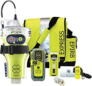 ACR GLOBALFIX V4 and ResQLink 400 Survival Kit with EPIRB, Personal Locator Beacon, Ditch Bag, and Safety Gear