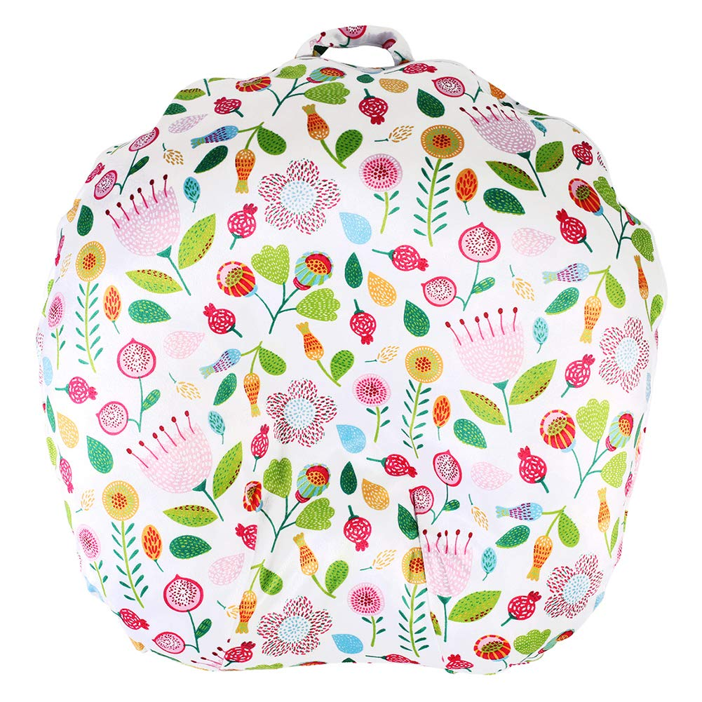 Minky Removable Newborn Lounger Cover Nursing Pillow Slipcover Super Soft Snug Fits Boppy Lounger Cute Flower by IBraFashion